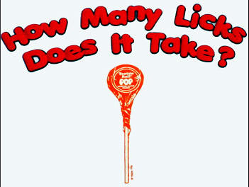 How Many Licks To Get To The Centre
