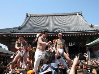 Climax of the festival in front of the Sensouji Temple
