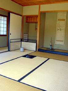 Traditional Japanese tea room