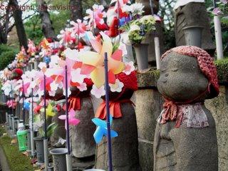 O-jizo-sama at Zojoji Templw, Tokyo.