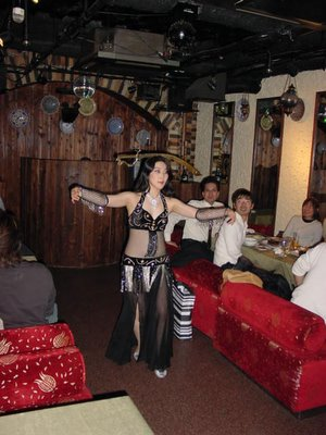 Belly dancer at Antarica, Sakae, Nagoya