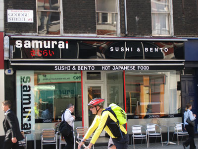 Samurai Japanese Restaurant, Goodge Street, London