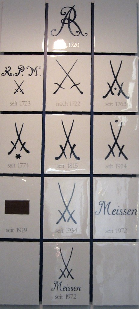 dating meissen porcelain marks