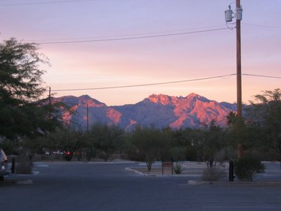 Lemmon sunset, to the north
