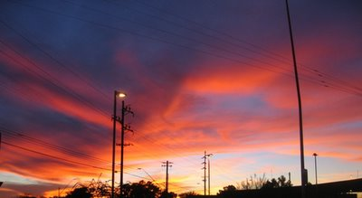 just the sky at sunset, 12/21/05