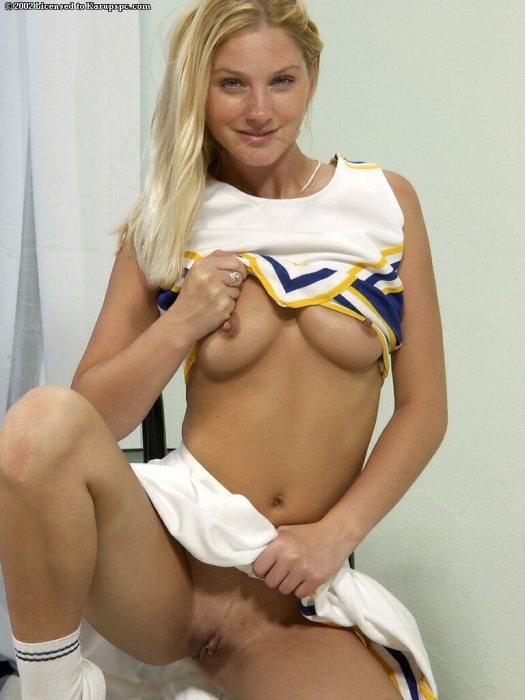 Cheerleader topless