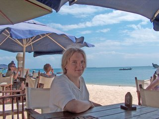 lunch at the Livingstone Beach Restaurant