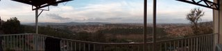 panoramic view of Kigali from my parents' balcony