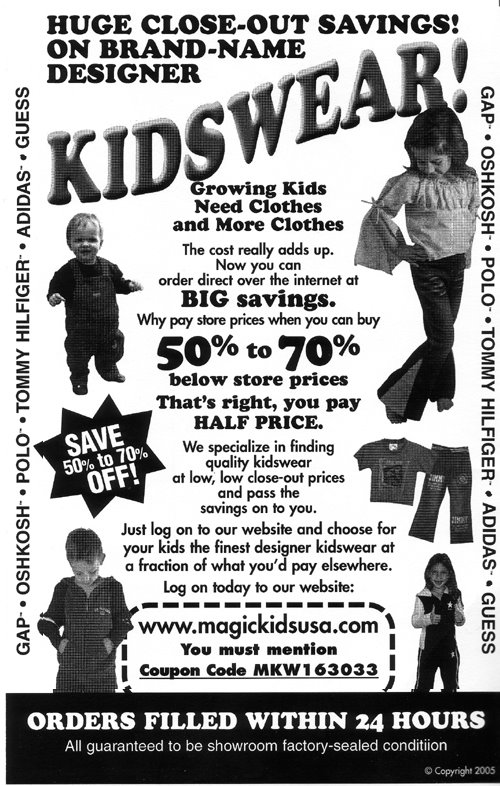 MagicKidsUSA.com - You must mention Coupon Code MKW163033