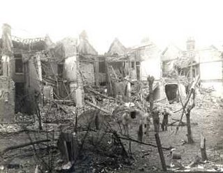 World War II Damage, Guernsey Grove, Herne Hill, 1944
