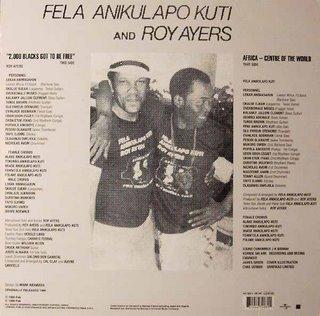 Roy Ayers / Fela Anikulapo Kuti - Music Of Many Colours art cover back