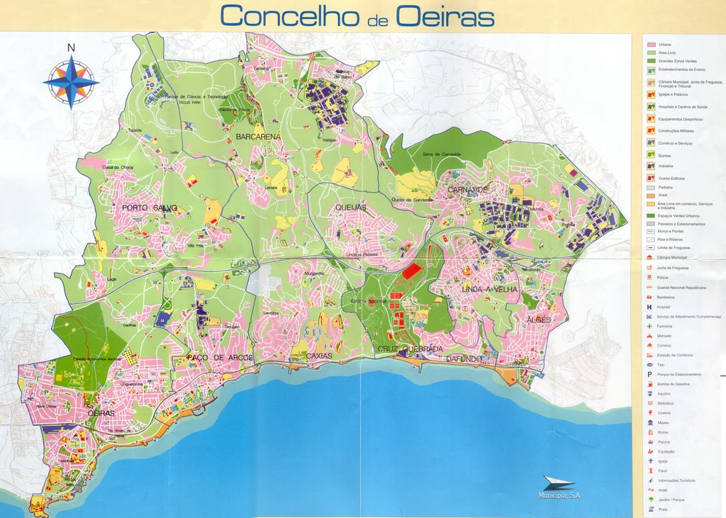 Diogo Alves T P C Mapa Do Concelho De Oeiras
