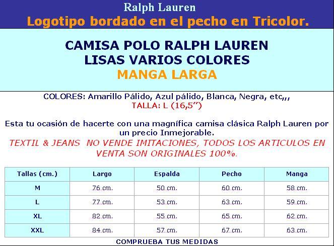 Textilamp; Lauren Caballo Manga Ralph Larga CompanyCamisas Jeans PTOZukiX