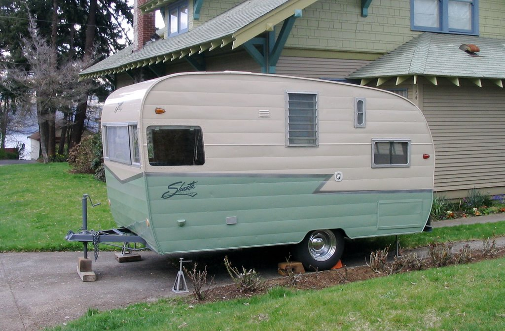 Painting Travel Trailer