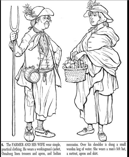 colonists coloring pages | Pseudo-Intellectualism: Wyckoff House: Colonial Coloring Book