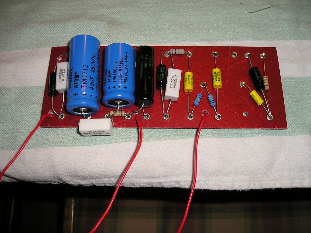 My Two Stroke Amp Project March 2006 Circuit Board Eyelets Big 40uf Cap Since The Is As Wide Leaving Little Room To Place Your Soldering Iron Eyelet 2 3 4 X 7