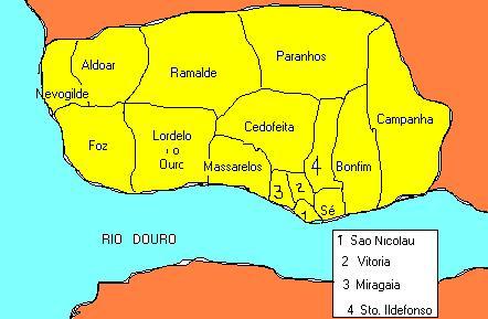 mapa freguesias concelho porto Regionalização mapa freguesias concelho porto