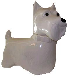 Wanted Black Or White Scotty Dog Cookie Jar
