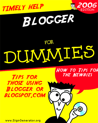 picture of book cover of Blogger for Dummies