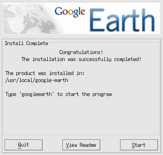 Google Earth 4 Install Complete