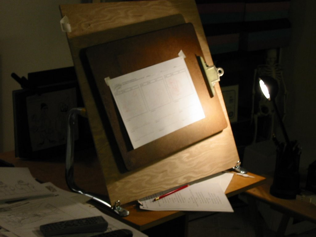 Mold Breaker: My HomeMade, Spinning , Vertical Drawing Board