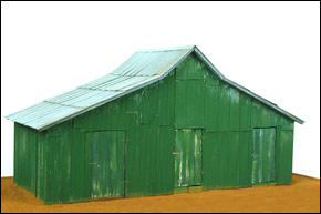William Christenberry, Green Warehouse, sculpture