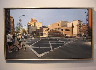 Richard Estes, Avenue of the Americas at Spring Street, oil on canvas