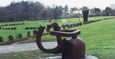 Eduardo Chillida, view of Chillida-Leku, near San Sebastián, Spain