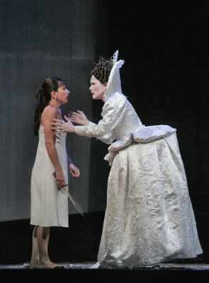 Natalie Dessay as Pamina and Heather Buck as the Queen of the Night, The Magic Flute, Santa Fe Opera, photo by Ken Howard © 2006