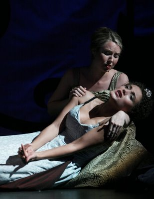 Maureen McKay as Ismene and Bronwen Forbay as Orasia, Orpheus, Wolf Trap Opera Company, 2006, photo by Carol Pratt