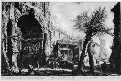 Giovanni Battista Piranesi (1720-1778), Veduta dell'Arco di Tito, image scanned by René Seindal