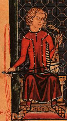 Rabel, illustration in the Cantigas de Santa Maria