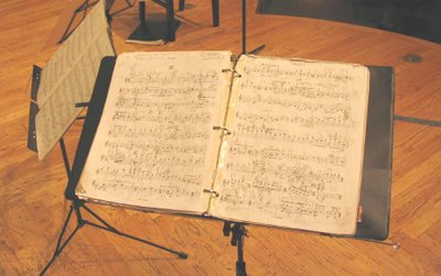 Bartók, String Quartet No. 2, op. 17, third movement, score of Edward Dusinberre, Corcoran Gallery of Art, March 31, 2006