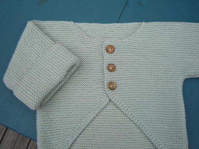 1eb70b3b85ca finished object  garter stitch baby jacket