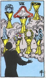 Basado en Learning the Tarot - An On-Line Course de Joan Bunning.  Carta: 7 de Copas de la baraja Rider-Waite