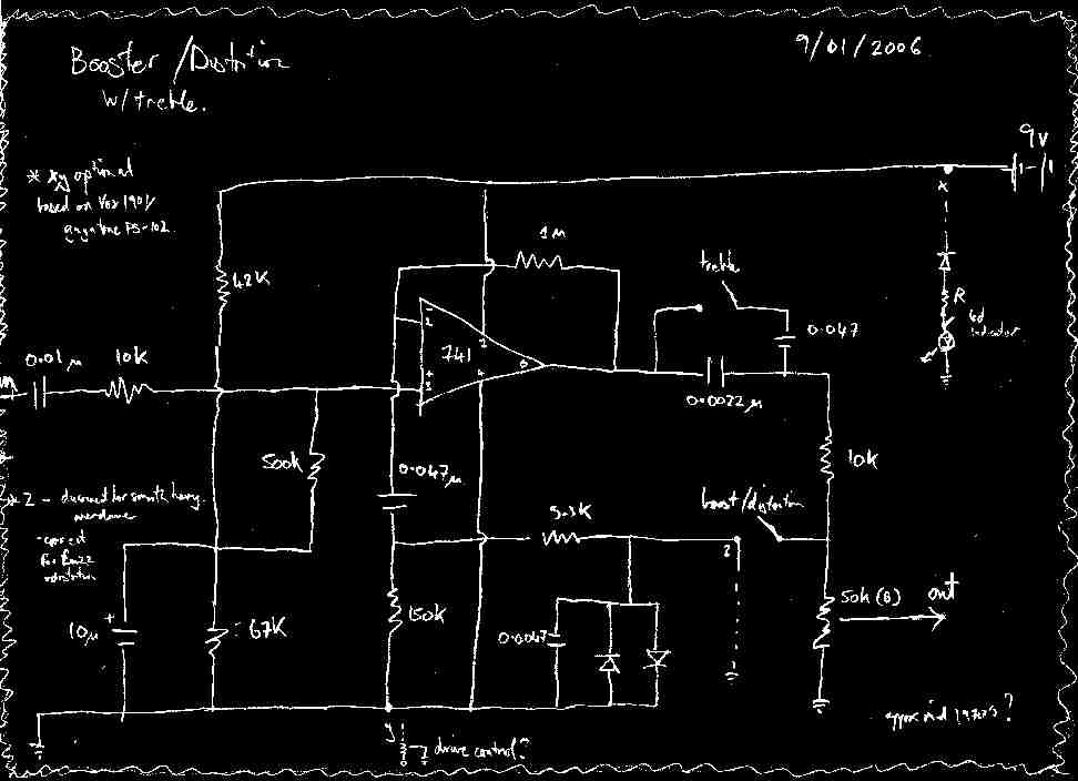 onboard booster distortion schematic reposted. Black Bedroom Furniture Sets. Home Design Ideas