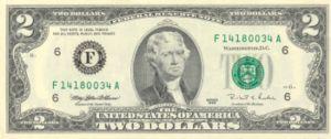 2-Dollar-Schein
