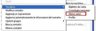 Windows Live Messenger 8 - Elenco Amici