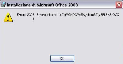 Office 2003: errore 2328