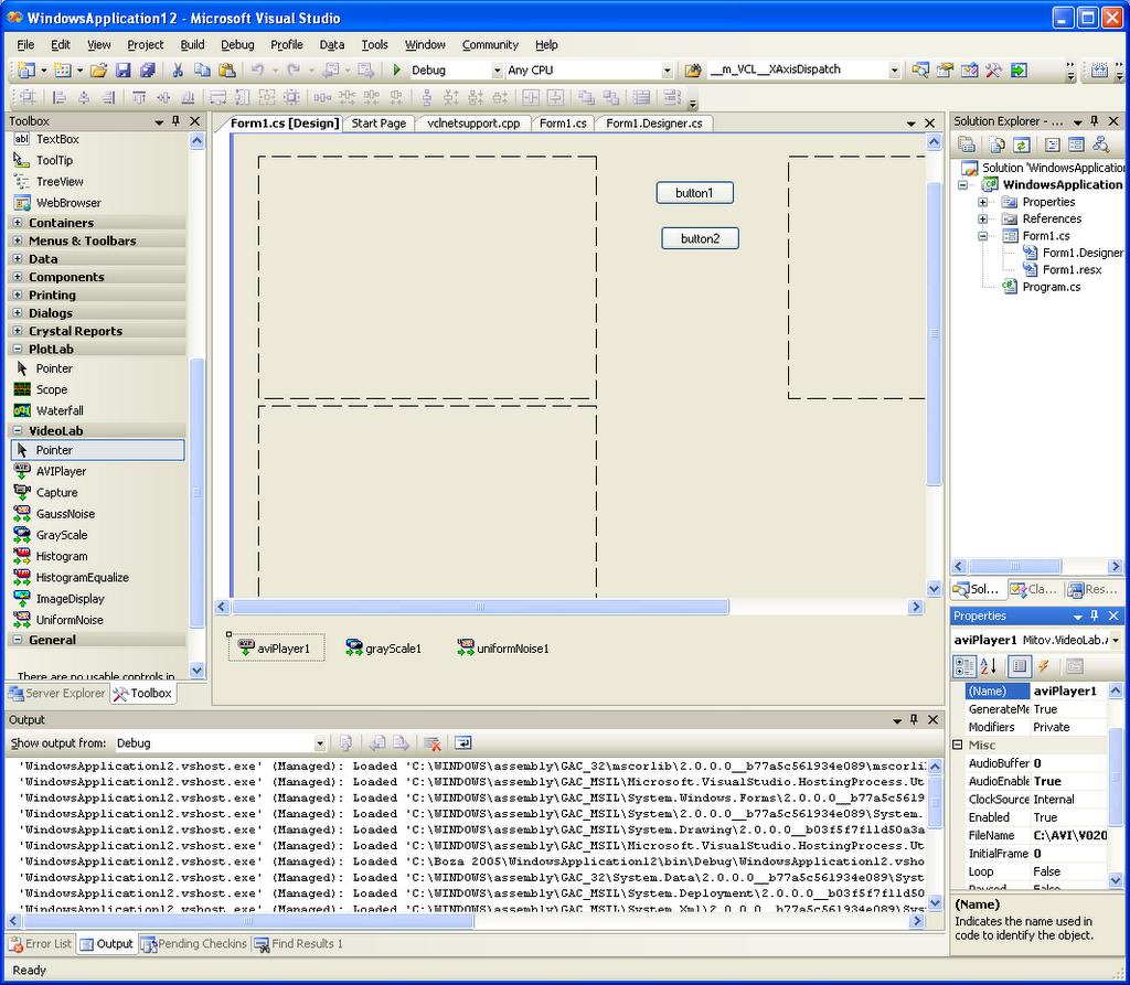 Mitov Software: VideoLab  NET in porgress again