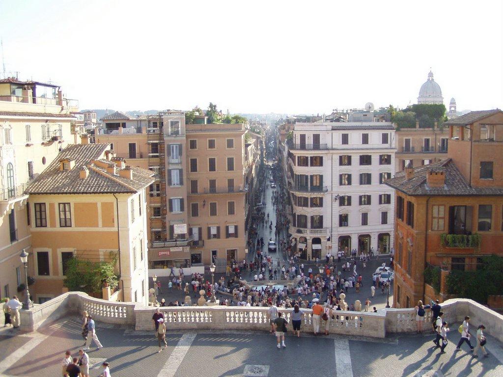 762d3e09e7e Fotografie: Roma vista da Trinità dei Monti - Piazza di Spagna - Via ...