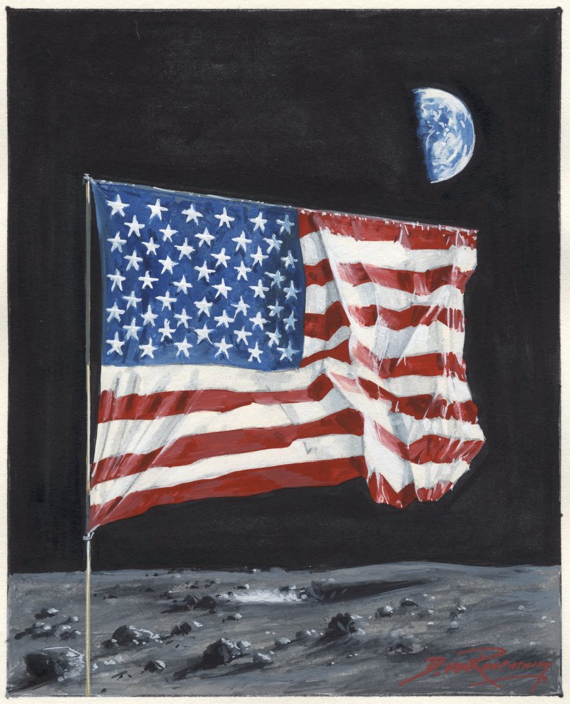 Space Artists: A Flag on the Moon