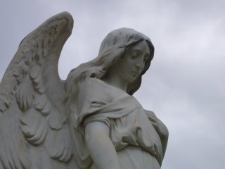 Cemetery angel photograph from Fairmount Cemetery, Denver, Colorado by Joe Beine