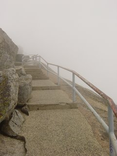 Foggy stone steps