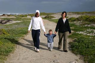 Susannah, Joel & Paula at Cape Agulhas