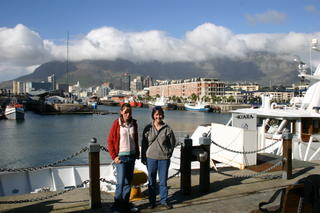 Standing in front of Table Mountain