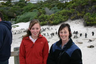 Susannah & Paula at Boulders Beach with the penguins