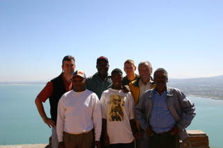 At the viewing point above False Bay