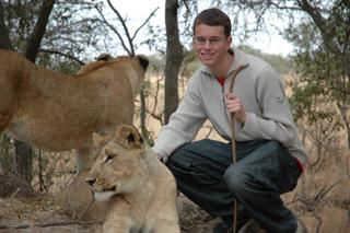 Tim With Lions