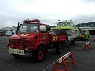 Boat and fire truck